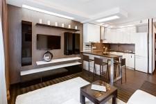 Перепланировка светлая большая квартира-студия