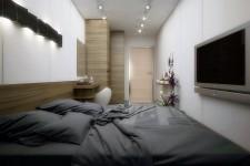 Светлая спальня скандинавский стиль небольшая квартира