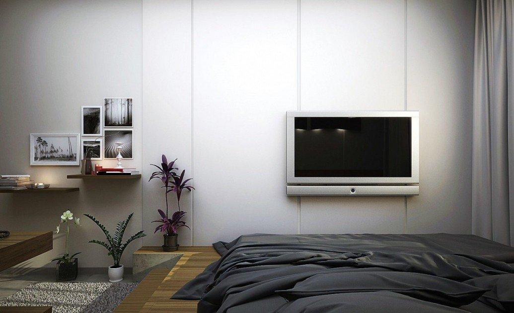 Зона отдыха спальни скандинавский стиль