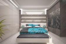Светлая спальня конструкция гипсокартон ниши