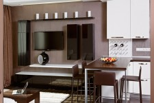 Стерео-система квартира-студия современный стиль