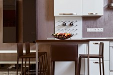 Белая мебель стильная квартира-студия