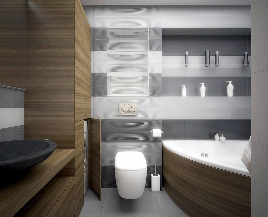 Ванная скандинавский стиль натуральная древесина