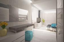 Функциональная зона светлая спальня современный стиль