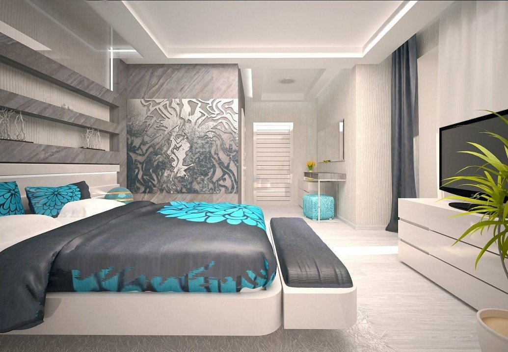 Стена спальня арт-объект металла