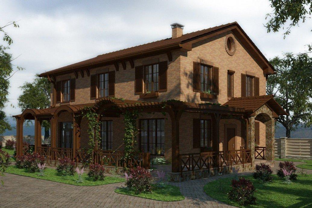 Дом большая терасса средиземноморский стиль