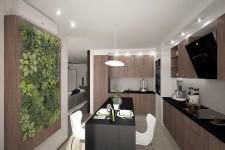 Столешница натуральный темный камень кухня