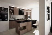 Светлая кухня современный стиль
