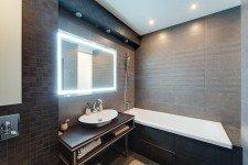 Зеркало подствека ванная коричневый