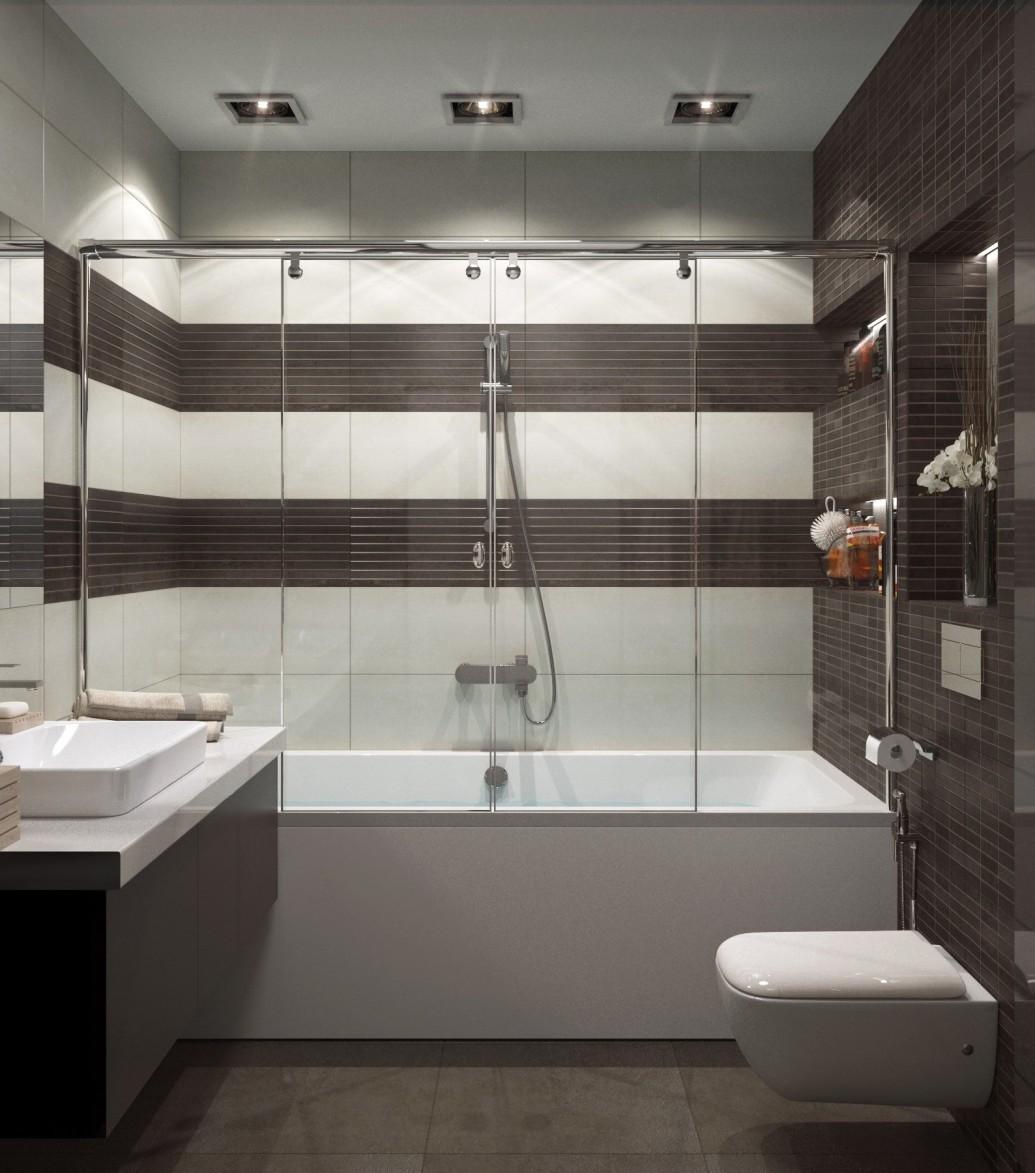 Ванная коричневый современный стиль