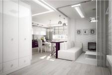Белая светлая квартира
