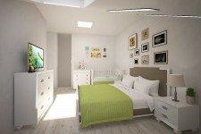 Светлая спальня стиль легкий прованс
