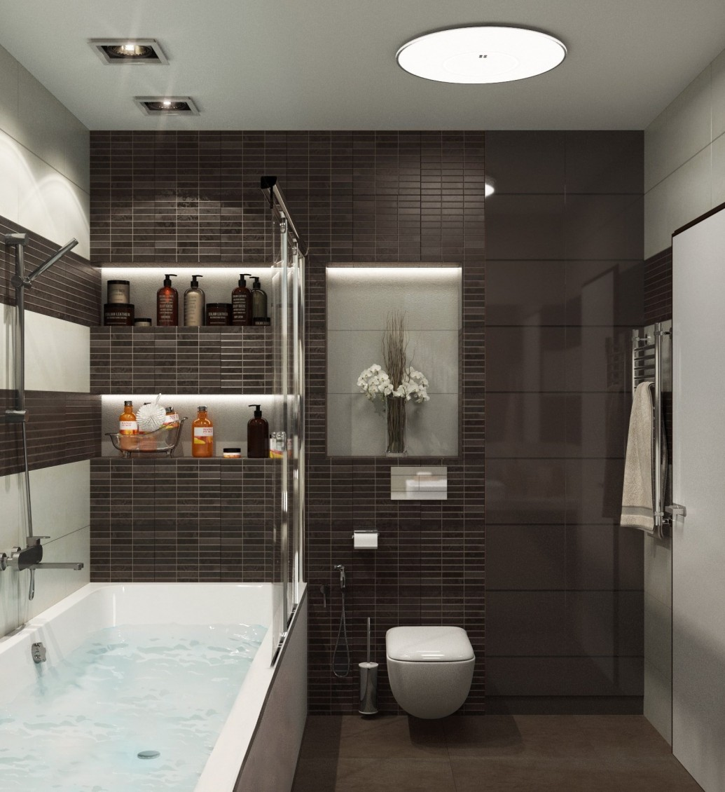 Ниши со светильниками ванная комната