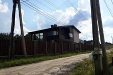 Дом облиуовка термодеревом