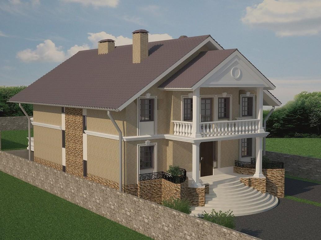 Дом с колоннами в классическом стиле