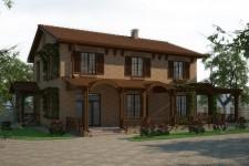 Кровля черепица дом средиземноморский стиль