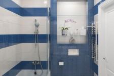 Голубая ванная стиль легкий прованс