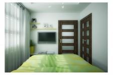 Спальня небольшая квартира натуальные материалы