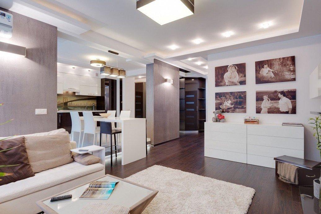 Перепланировка квартира-студия современный стиль