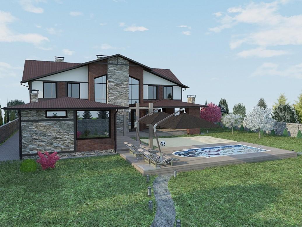 Дом стиль альпийского шале
