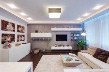 Зона отдыха светлая квартира-студия современный стиль