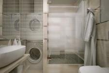 Зона прачечной ванная небольшая квартира