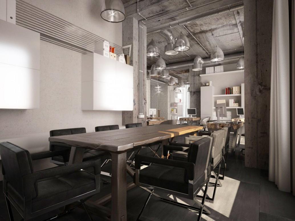 Открытая система кондиционирования потолок стиль лофт