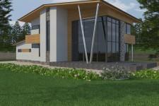 Колонна металлическая дом
