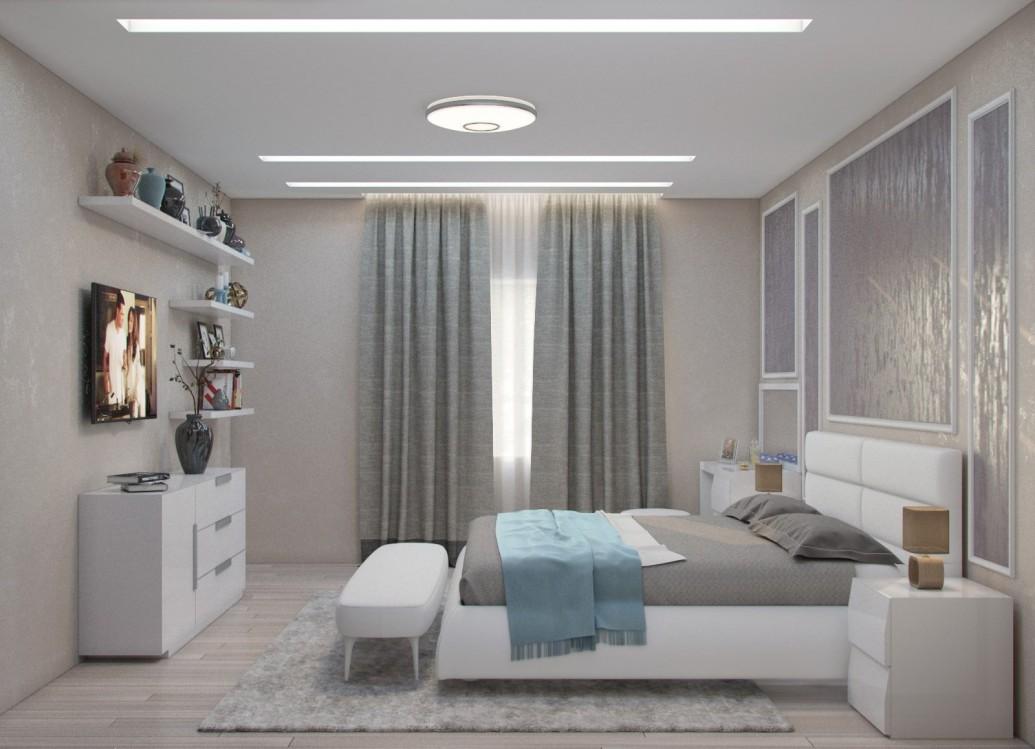 Светлая спальня современный стиль