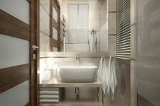 Светлая ванная небольшая квартира
