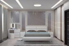 Светлая отделка спальни