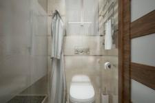 Узкая ванная дизайн современный стиль