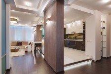 Инфракрасный теплый пол кухня кватира-студия