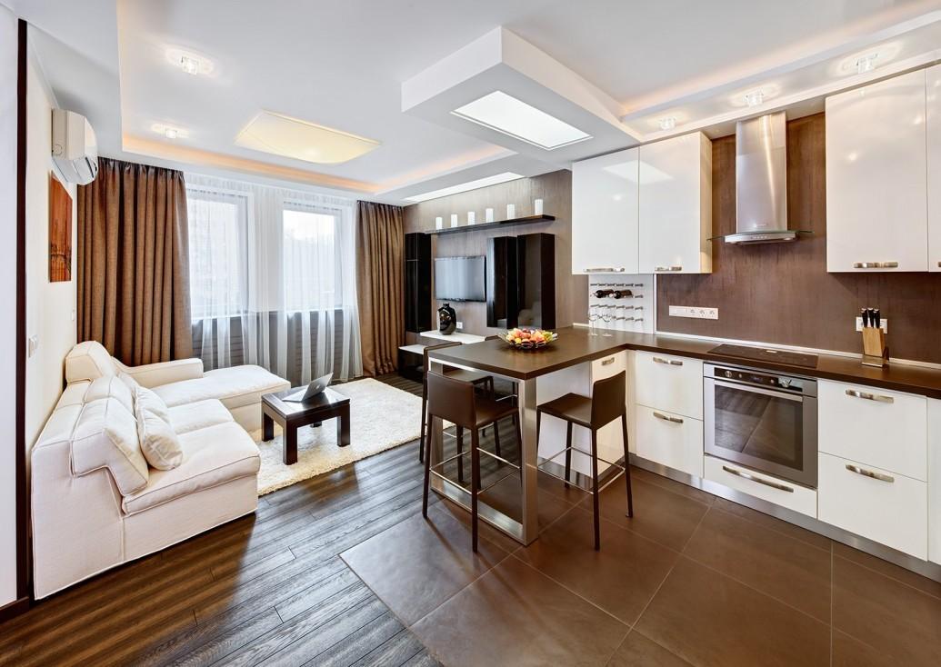 Стильный дизайн квартиры-студии