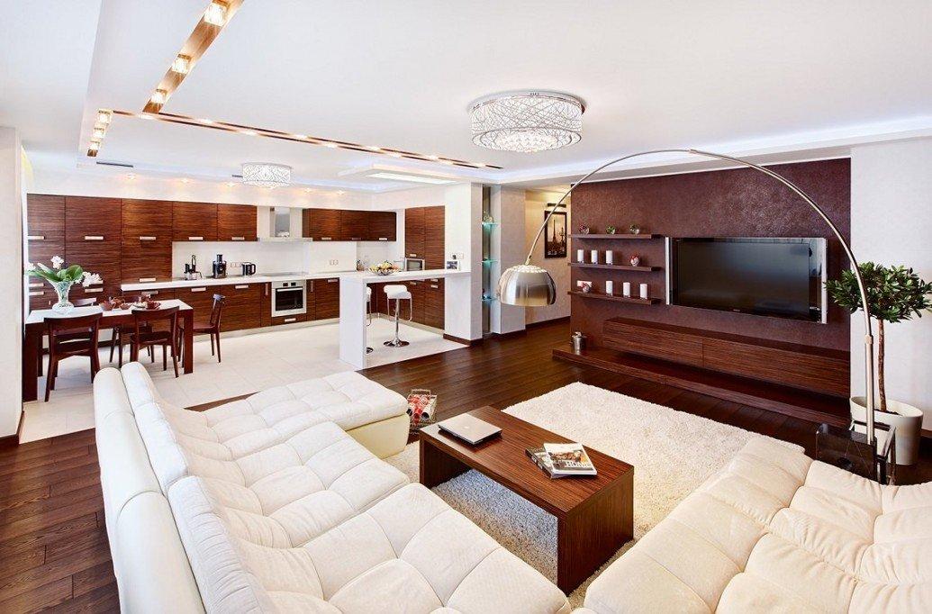 Гостиная квартиры-студии для парня