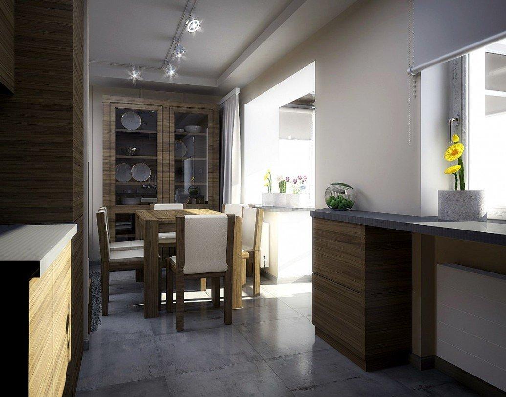 Обеденная зона небольшая квартира скандинавский стиль