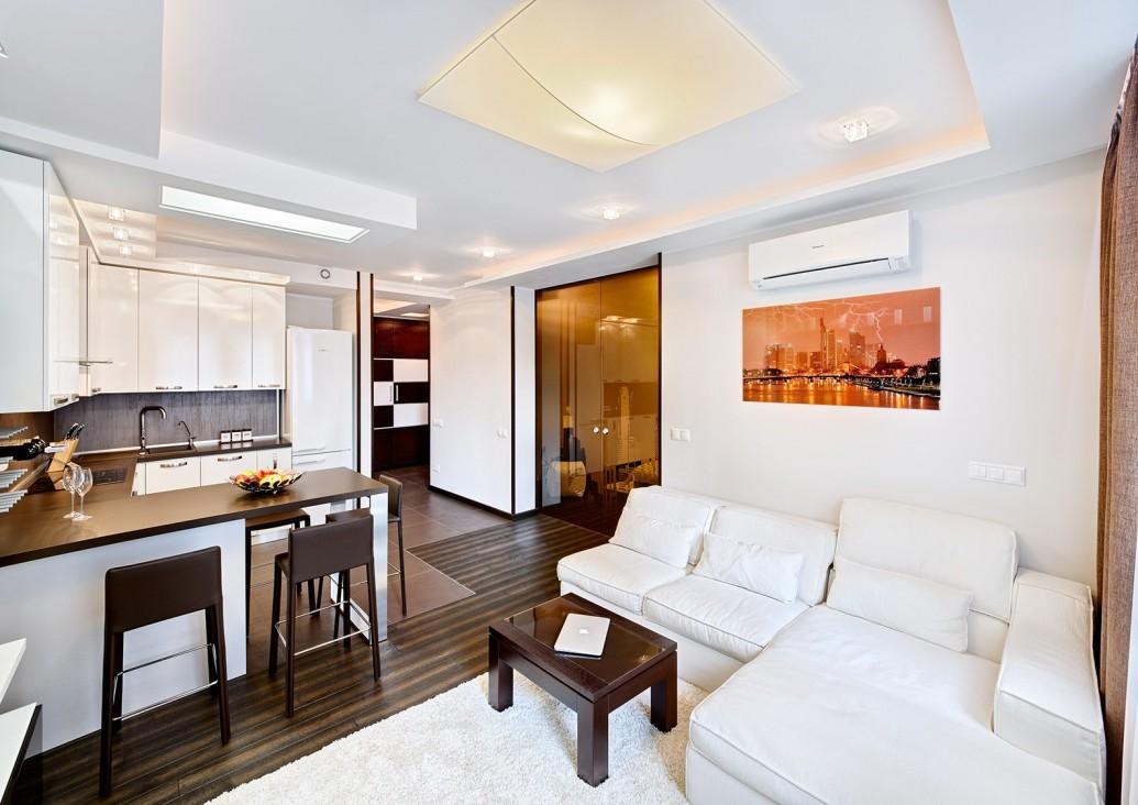 Барная стойка вместо стола квартира-студия