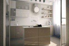 Кухня светлые тона современный стиль