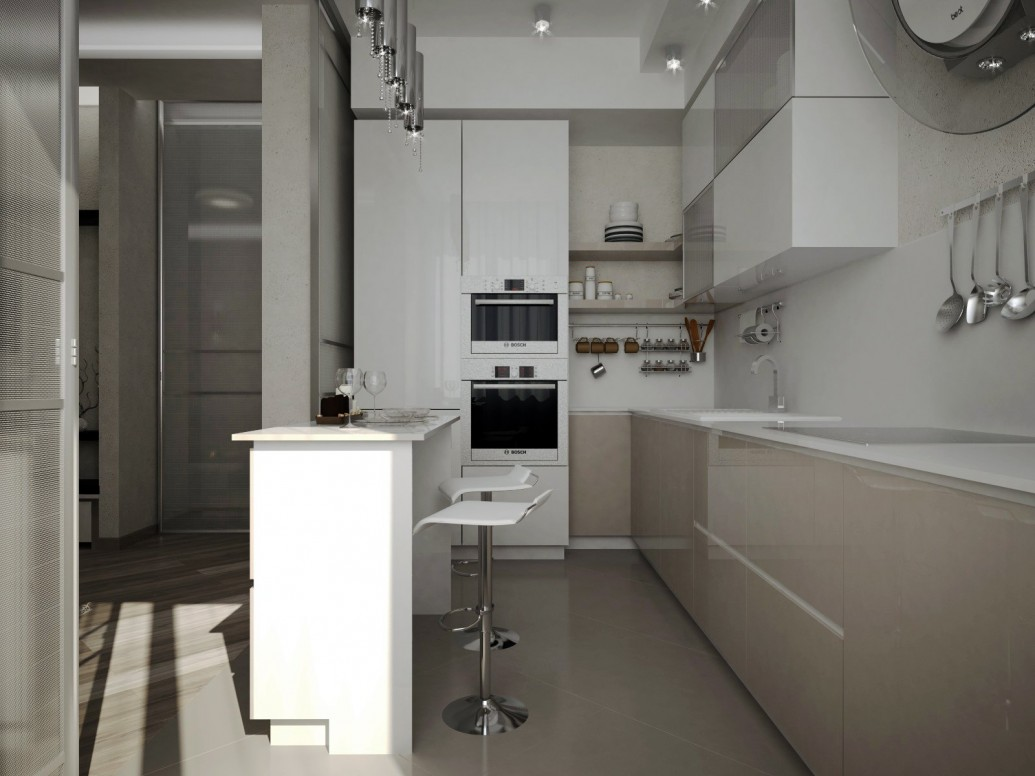 Плика керамогранит натуральные материалы кухня