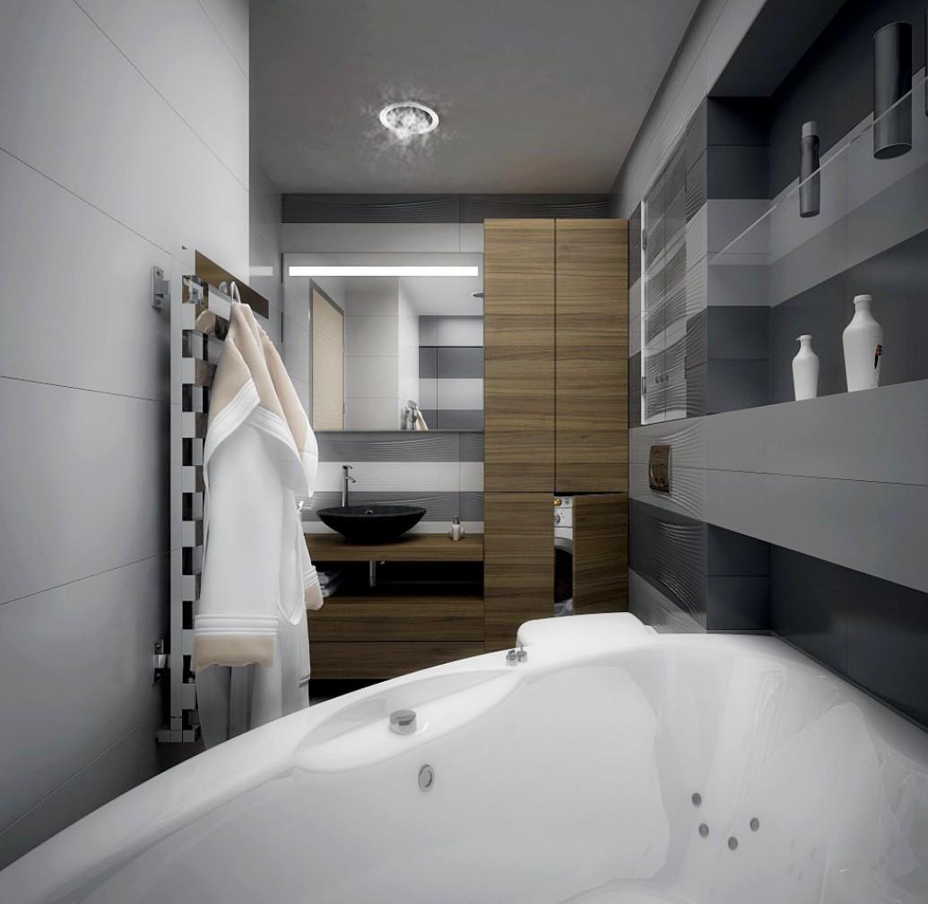 Натуральная древесина ванная скандинавский стиль