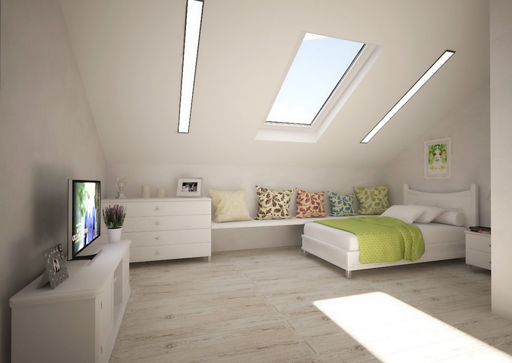 Спальня мансарды стиль легкий прованс
