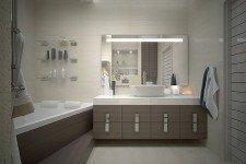 Ванная зеркало подсветка современный стиль
