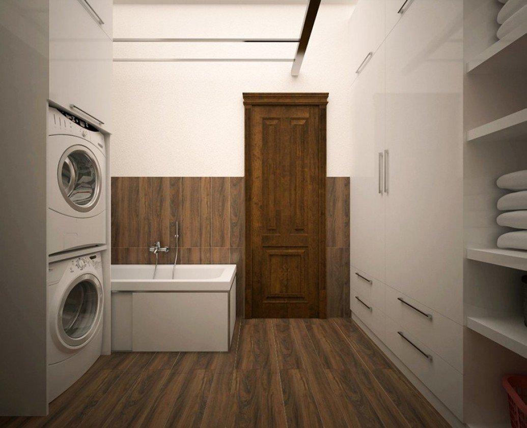 Ванная теплый пол коричневая паркетная доска