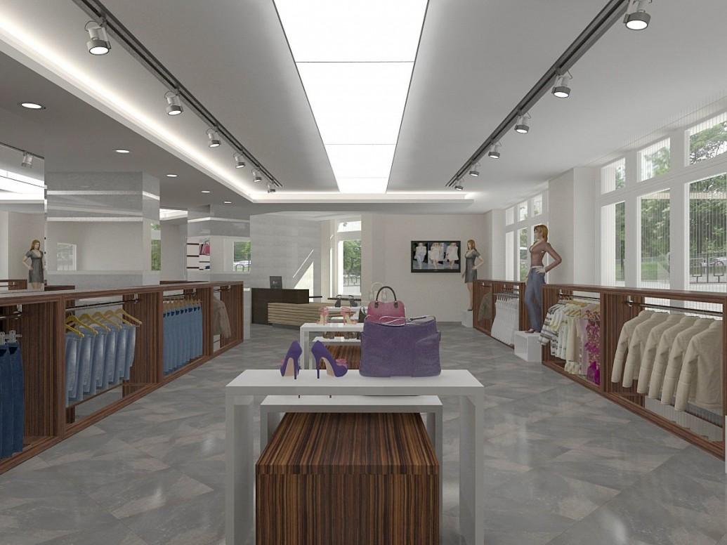 Акриловый светильник потолок магазин одежды
