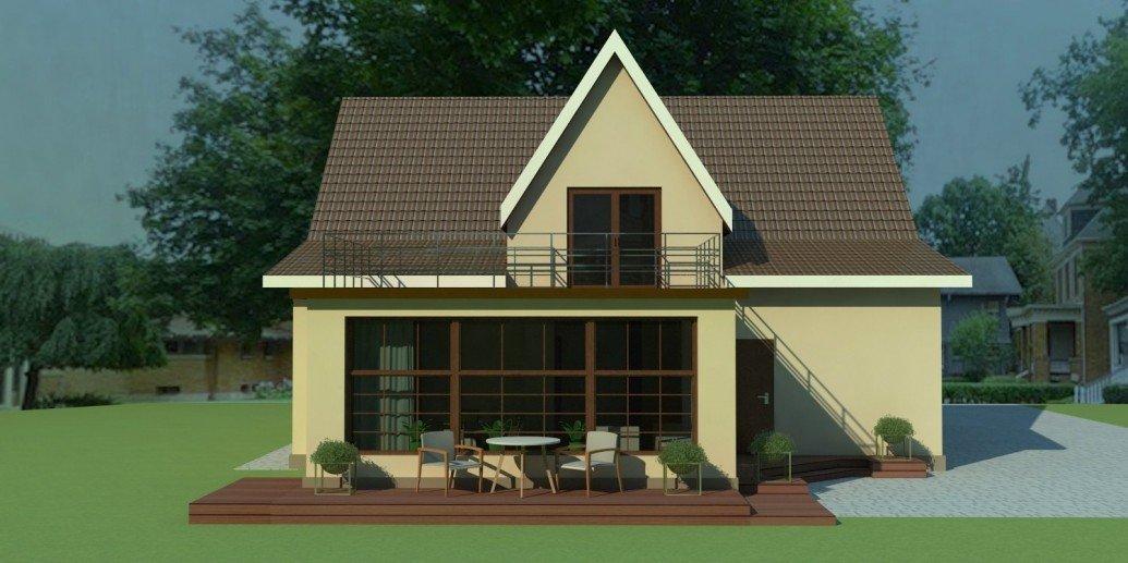 Терасса большие окна пристройка загородный дом