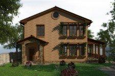 Дом натуральный камень средиземноморский стиль