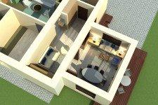Терасса загородный дом пристройка скандинавский стиль