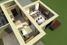 Терасса пристройка загородный дом скандинавский стиль