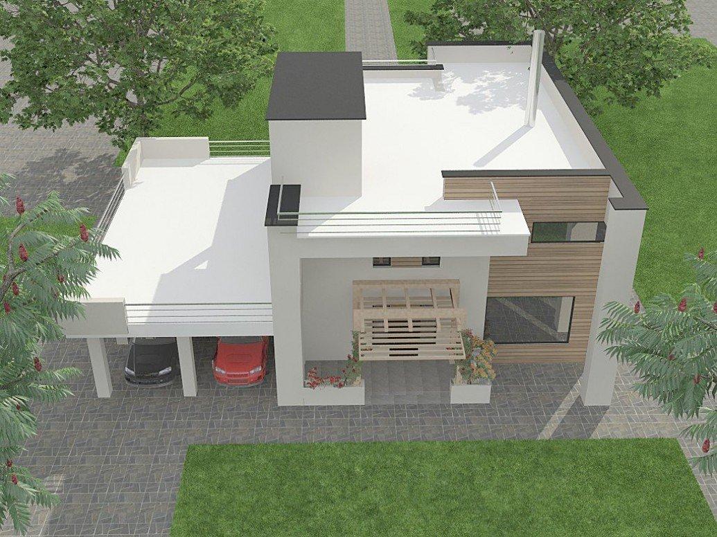 Дом плоская крыша современный стиль